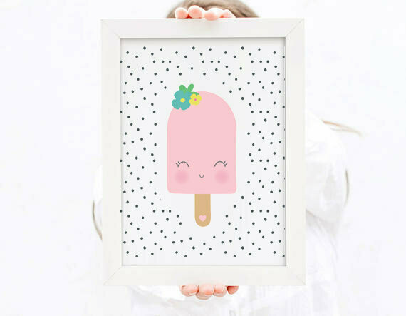 Pink Popsicle Wall Art Print