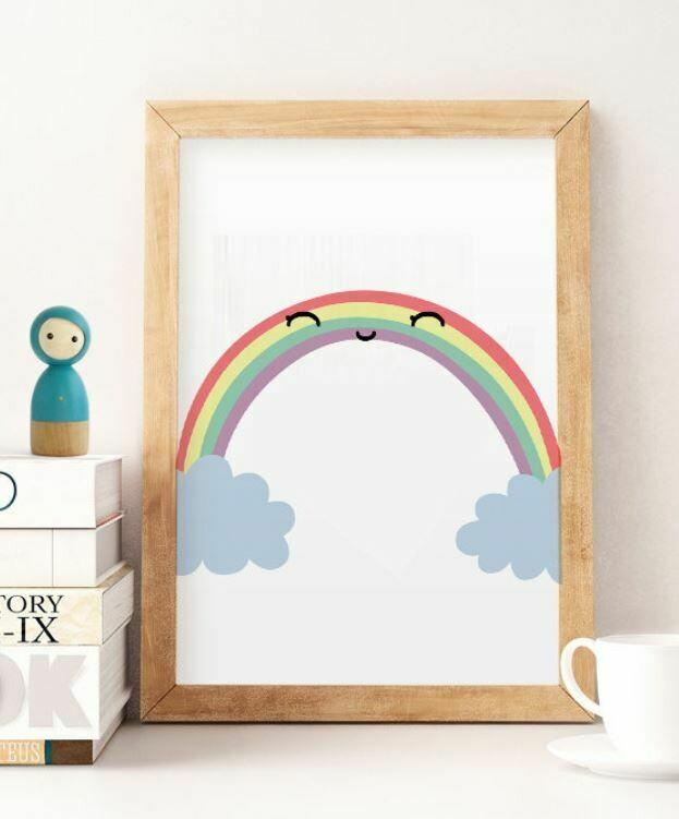 Rainbow Smile Wall Art Print
