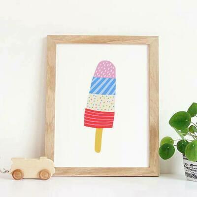 Summer Popsicle Wall Art Print