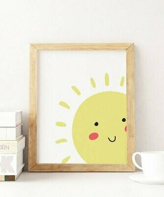 Smile Sun Wall Art Print