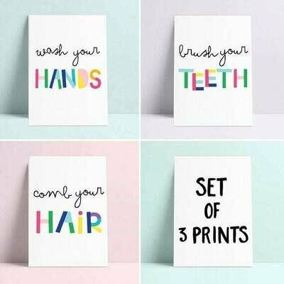 Rules Wall Art Prints - Set of 3