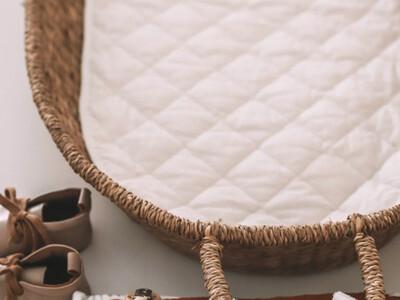 Changing Basket - Cotton Insert - White
