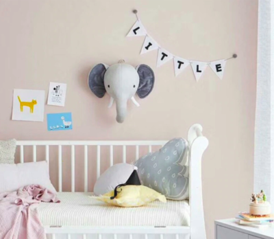 Stuffed Animal Head Wall Mount  - Elephant
