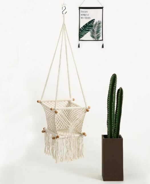 Handmade Macrame Baby Swing Hanging Chair