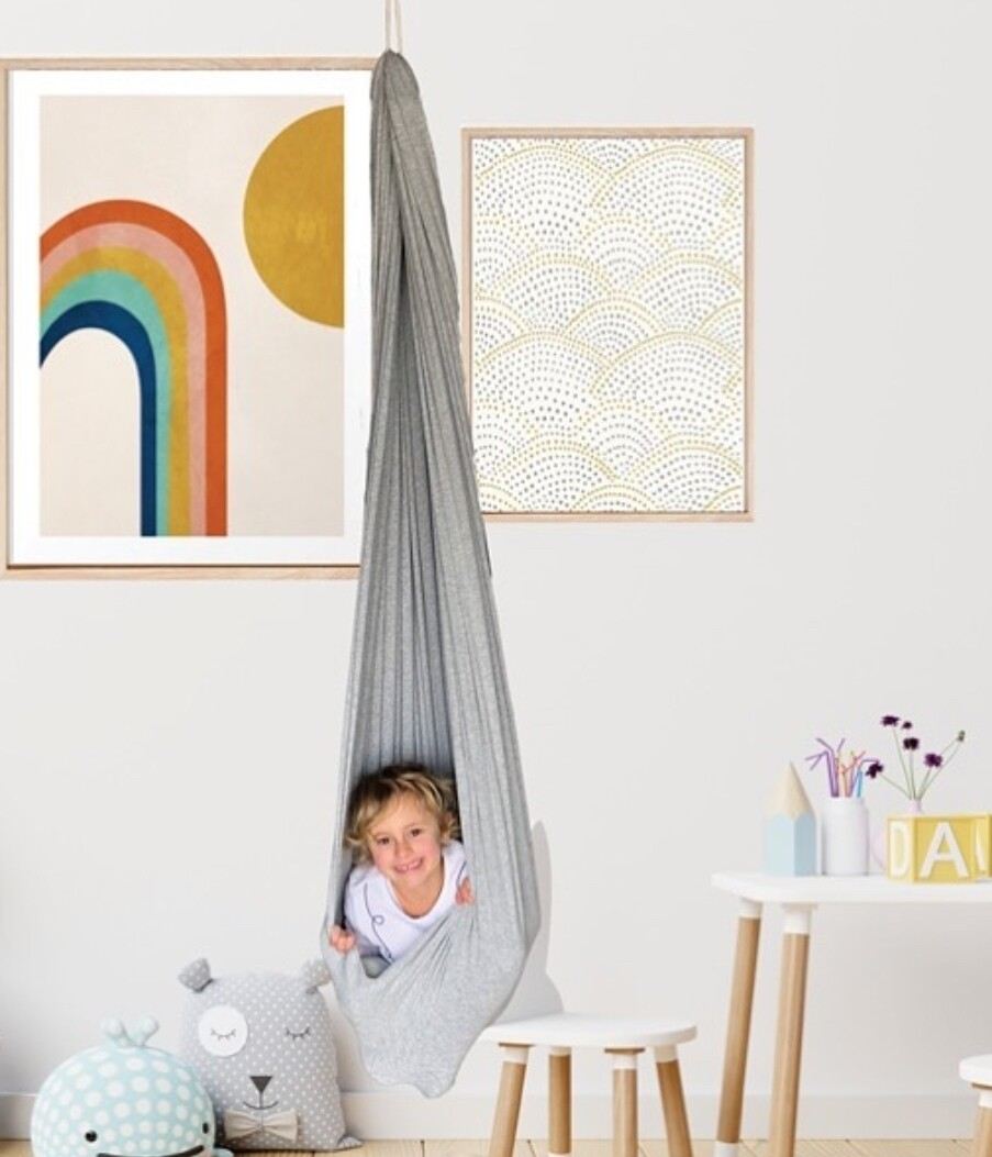 Children's Sensory Yoga Swing and  Hammock - Pink