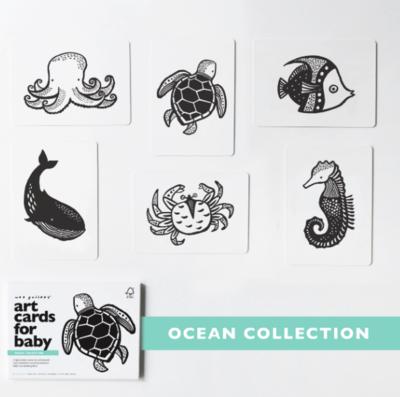Wee Gallery Ocean Art Cards for Baby