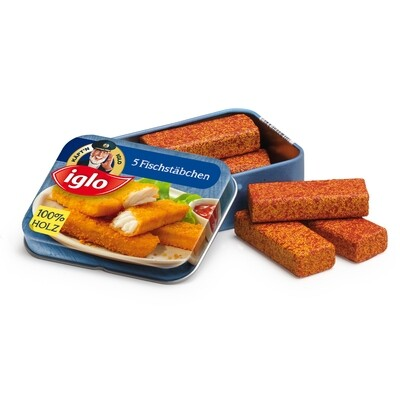 Fish Fingers Iglo in a Tin
