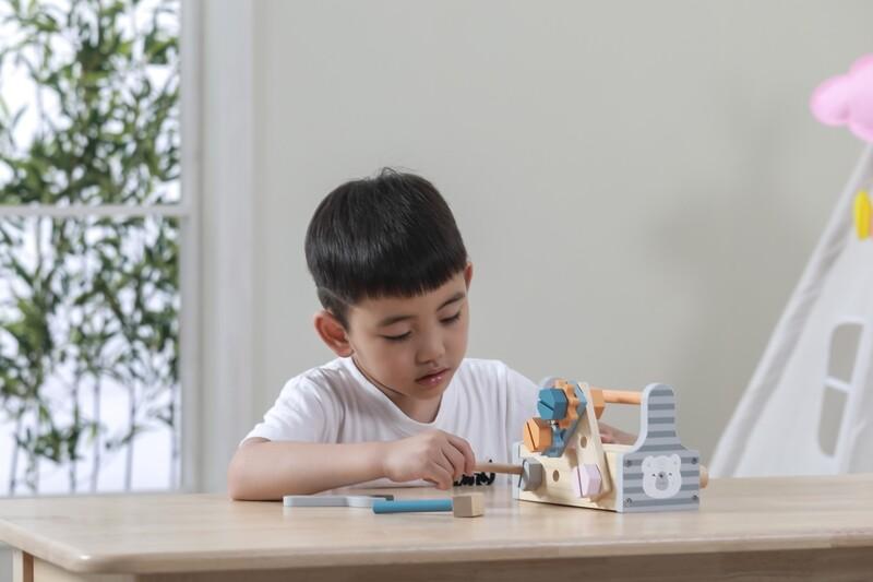 Wooden Tool Kit - Grey