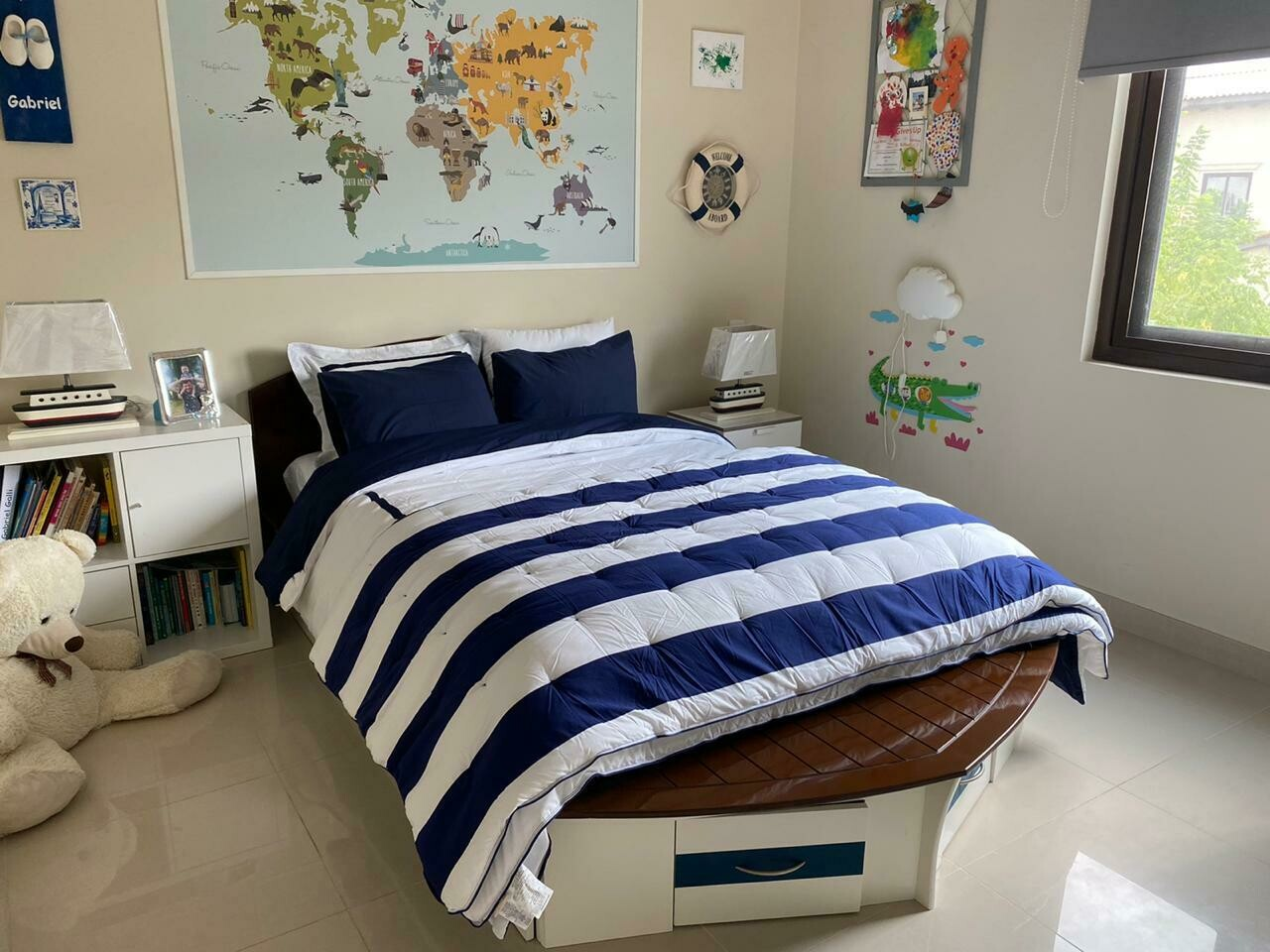 Wooden Luxury Boat Bed