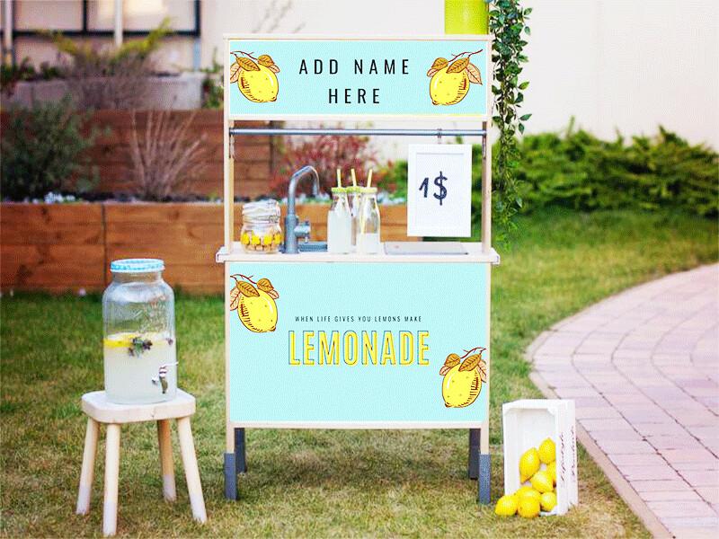 Duktig Kitchen: Decals for Reverse - Lemonade Stand Option 1