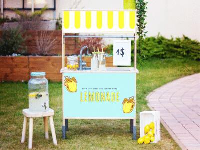 Duktig Kitchen: Decals for Reverse - Lemonade Stand Option 2