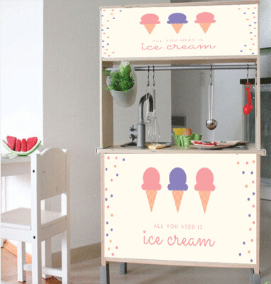 Duktig Kitchen: Decals for Reverse - All you need is Ice Cream
