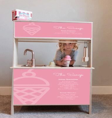 Duktig Kitchen: Decals for Reverse - The Scoop in Pink
