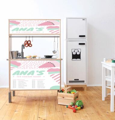 Duktig Kitchen: Decals for Reverse - Pastel Shop