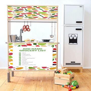 Duktig Kitchen: Decals for Reverse - Grocery List
