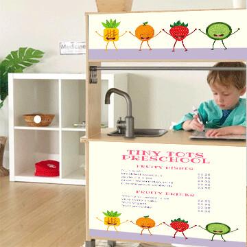 Duktig Kitchen: Decals for Reverse - Tots Menu