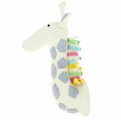 Felt Wall Animal Head -Multi-Color Giraffe