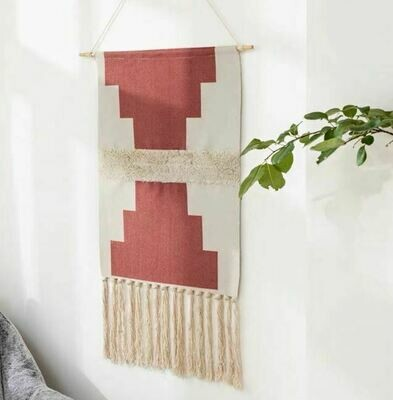 Brass Nordic Wall Hanging Cotton Tapestry