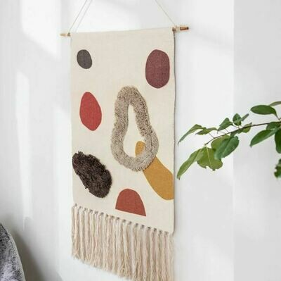 Rego Nordic Wall Hanging Cotton Tapestry