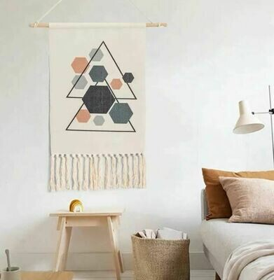Trengo Nordic Wall Hanging Cotton Tapestry