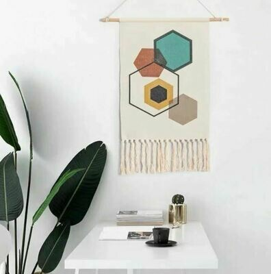 Bergo Nordic Wall Hanging Cotton Tapestry