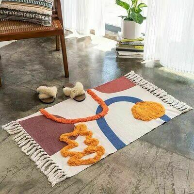 Handmade Bretta Nordic Style Floor Rug with Tassels