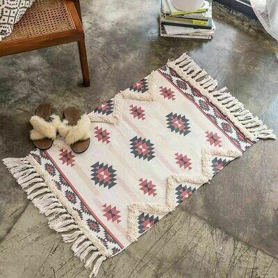 Handmade Dinn Nordic Style Floor Rug with Tassels