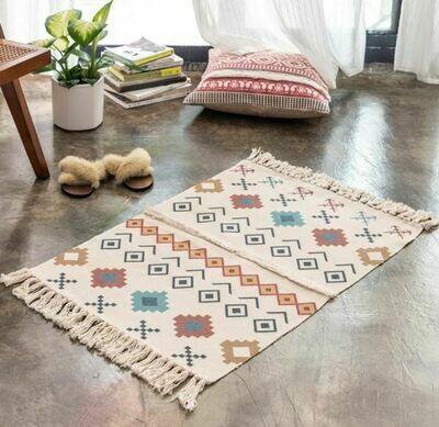 Handmade Vega Nordic Style Floor Rug with Tassels