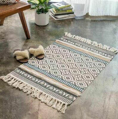 Handmade Jabe Nordic Style Floor Rug with Tassels