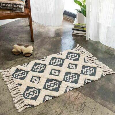 Handmade Regna Nordic Style Floor Rug with Tassels