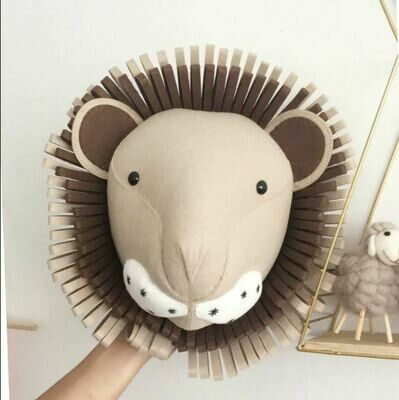 Felt Wall Animal Head - Lion