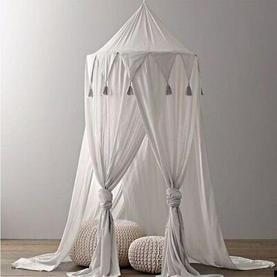 Chiffon Tent and Canopy Nursery Decor - White