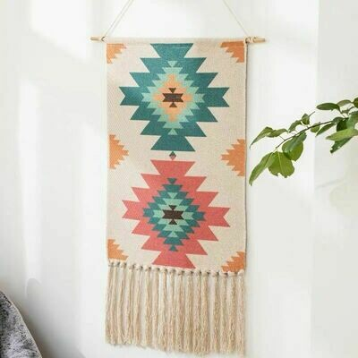 Nessa Nordic Wall Hanging Cotton Tapestry