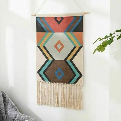 Vergo Nordic Wall Hanging Cotton Tapestry