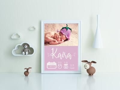 """Kaira New Born"" Print and Frame"