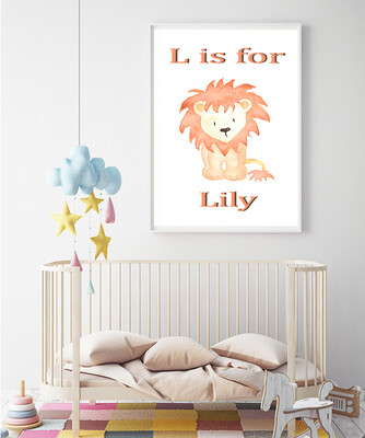 """""""L is for Lily"""" Print and Frame - Personalized"""