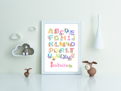 """""""ABC - Isabelle"""" Quote Print and Frame - Personalized"""