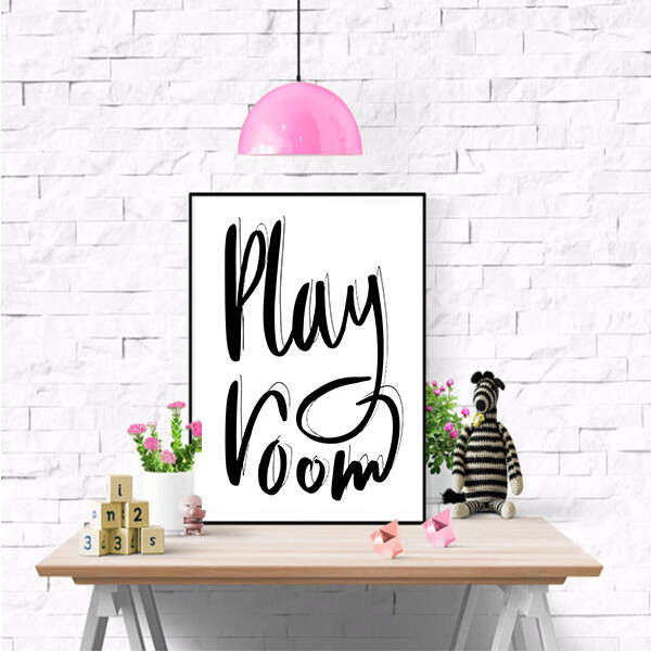 """""""Play Room"""" Quote Print and Frame"""