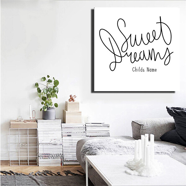 """""""Sweet Dreams"""" Quote Print and Frame - Personalized"""