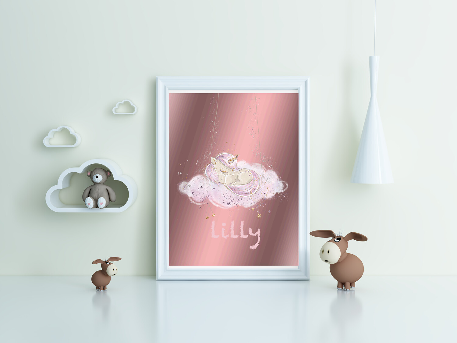 """""""Lily"""" Cloud Print and Frame - Personalized"""