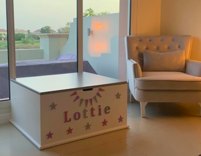 The Lottie: Personalized Wooden Large Toy Box - Personalized