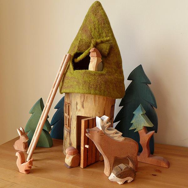 Felt & Wood Summer Fairy House Set