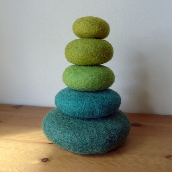 Felt Green Most - Stacking Set - 5 Pieces