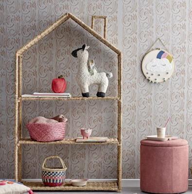 Rattan House Bookcase