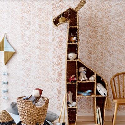 Rattan Giraffe Bookshelf