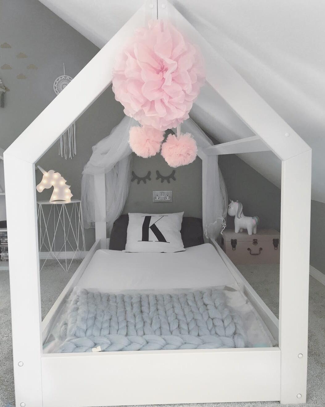 Wooden Montessori Basic Side House Bed Frame - Thicker Frame