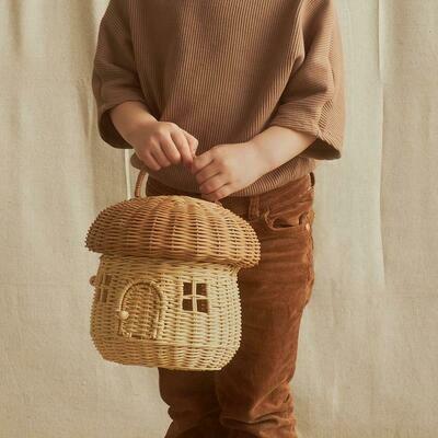 Mushroom Basket Bag