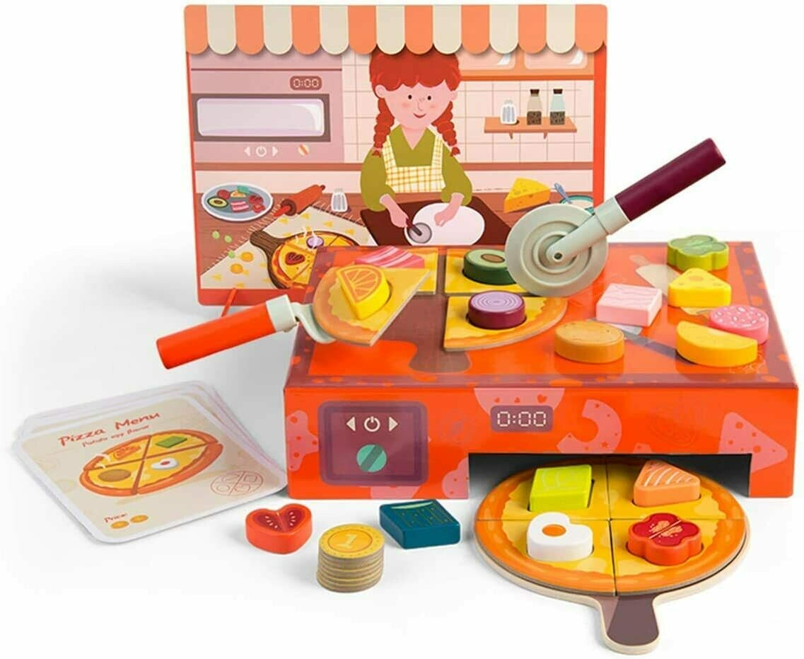 Pizza Making Toy Set with Toppings & Oven