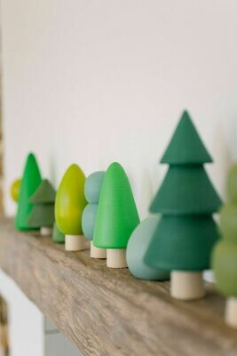 Wooden Tree Set - 8 Pieces