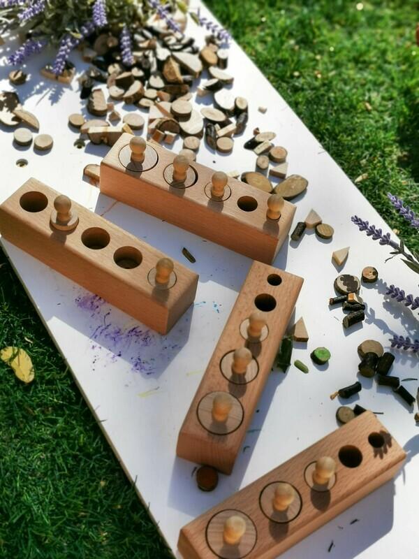 Montessori Wooden Cylinder Socket - Family Set